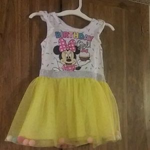Minnie mouse birthday girl dress